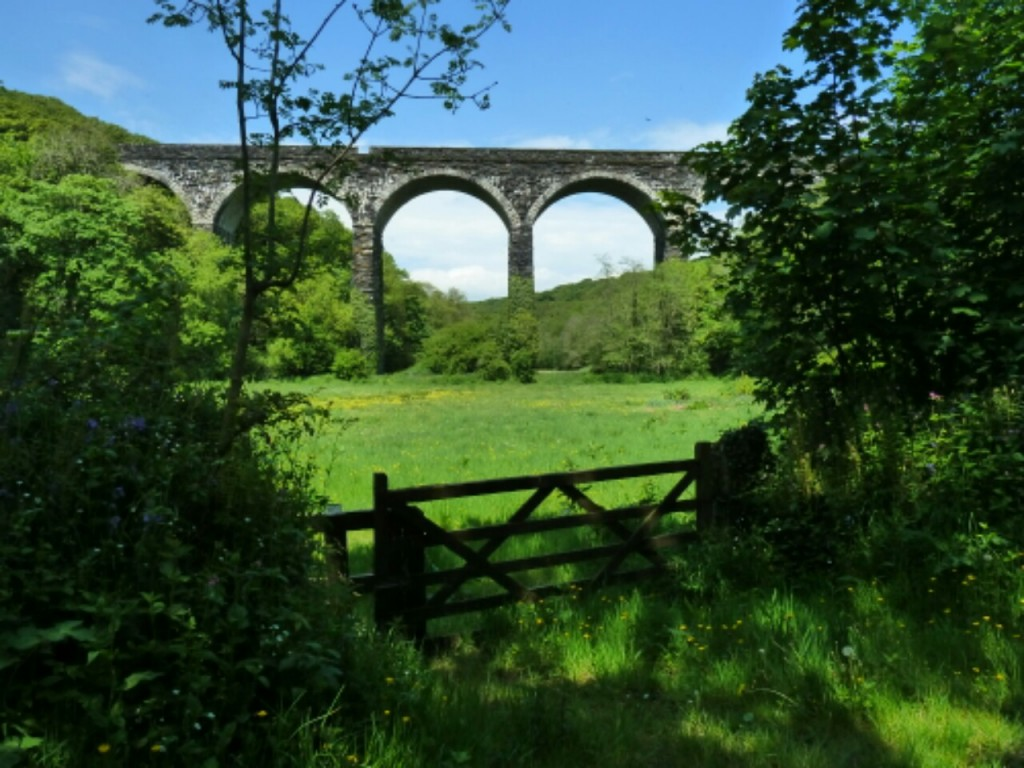 Rustic viaduct tucked up a small quiet valleys