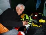 Martin in the tent last night