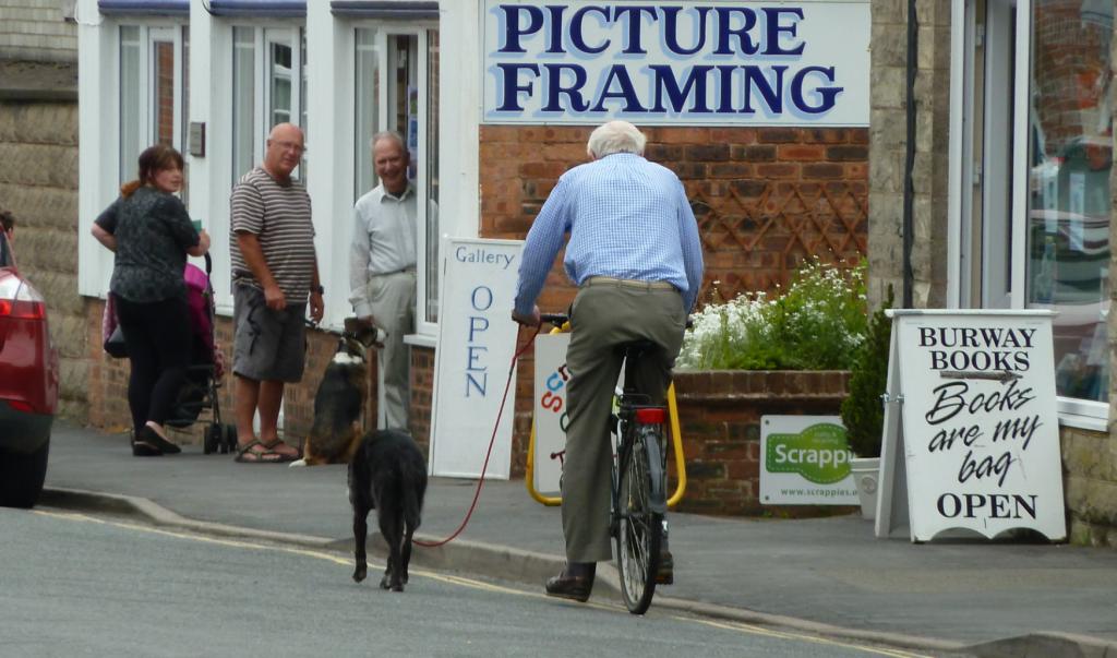 Walking the dog in Church Stretton