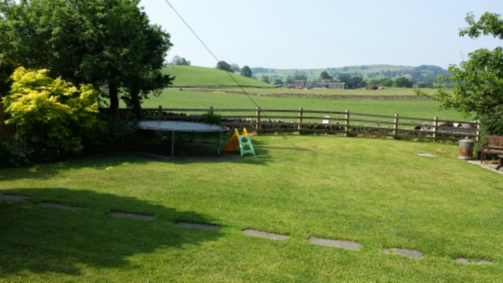 Maggie's lovely garden and view from the summer house