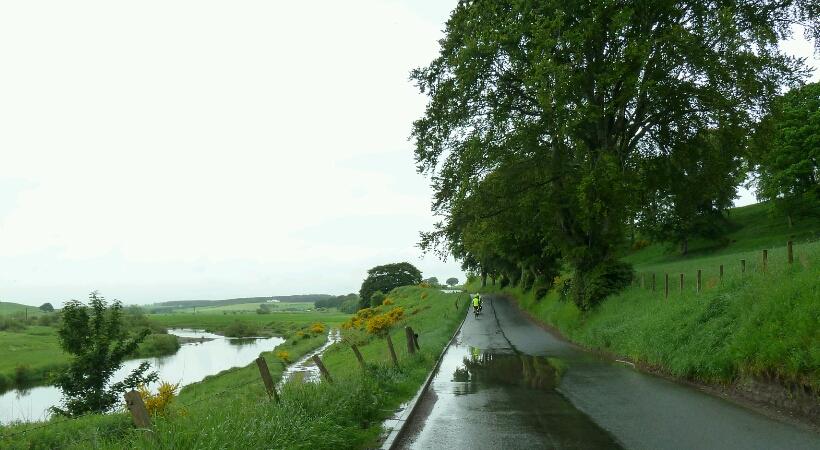 Wet cycling but beautiful scenery