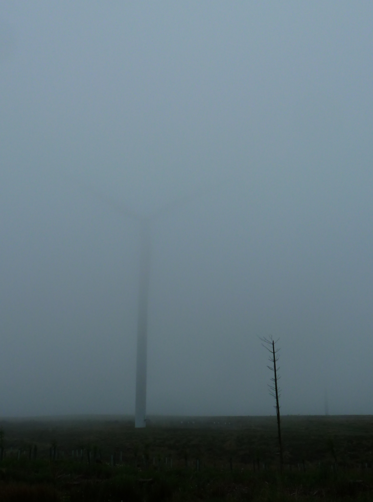 Turbines in mist