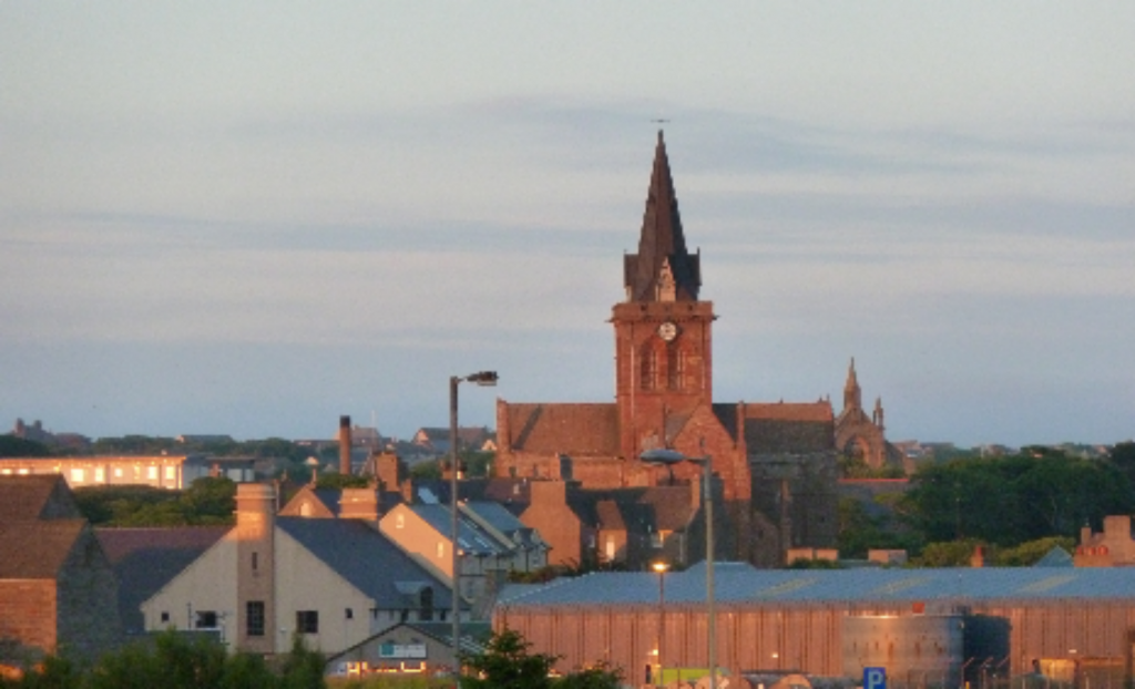 Cathedral in the evening light over Kirkwall