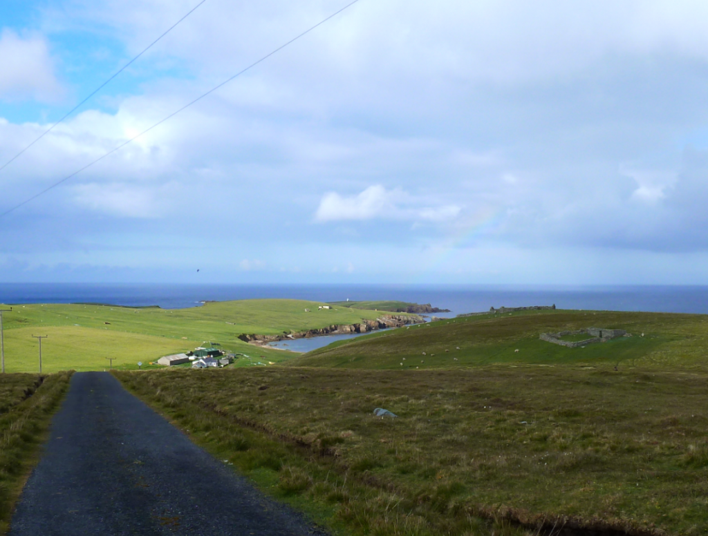 Skaw, the most northerly habitation in Britain at the end of the most northerly road