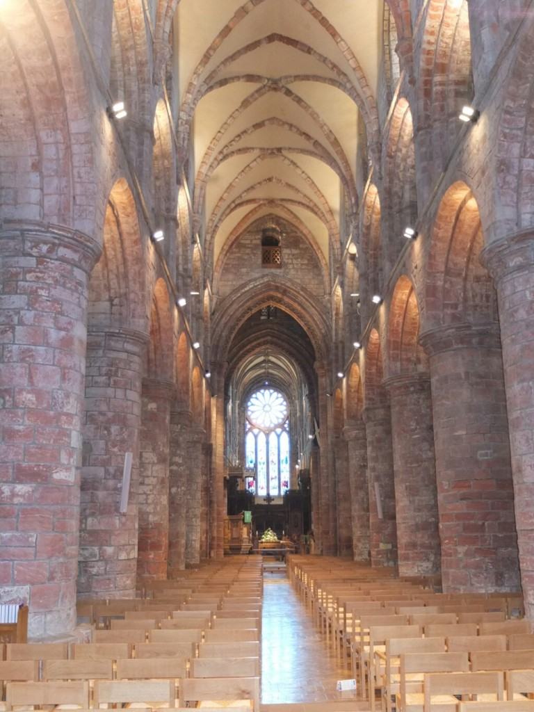 Interior of the red sandstone cathedral