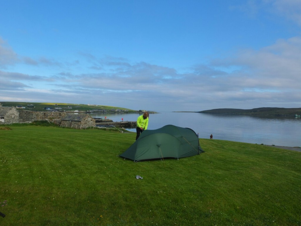 Idyllic campsite on Unst