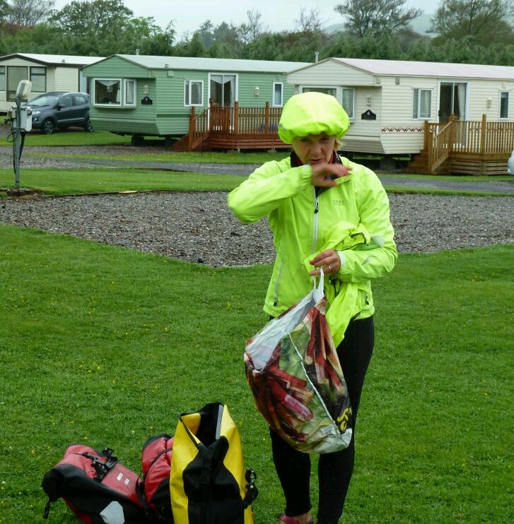 Fighting the midges in the rain