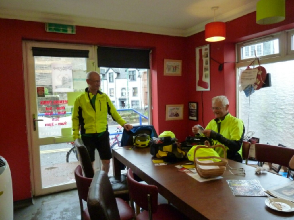 Glynne and Martin , lunch at the Apple Pie Bakery Carnwath