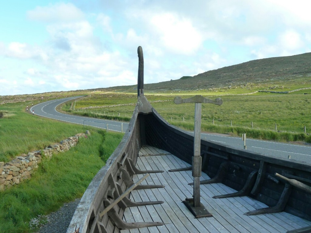 Replica viking ship