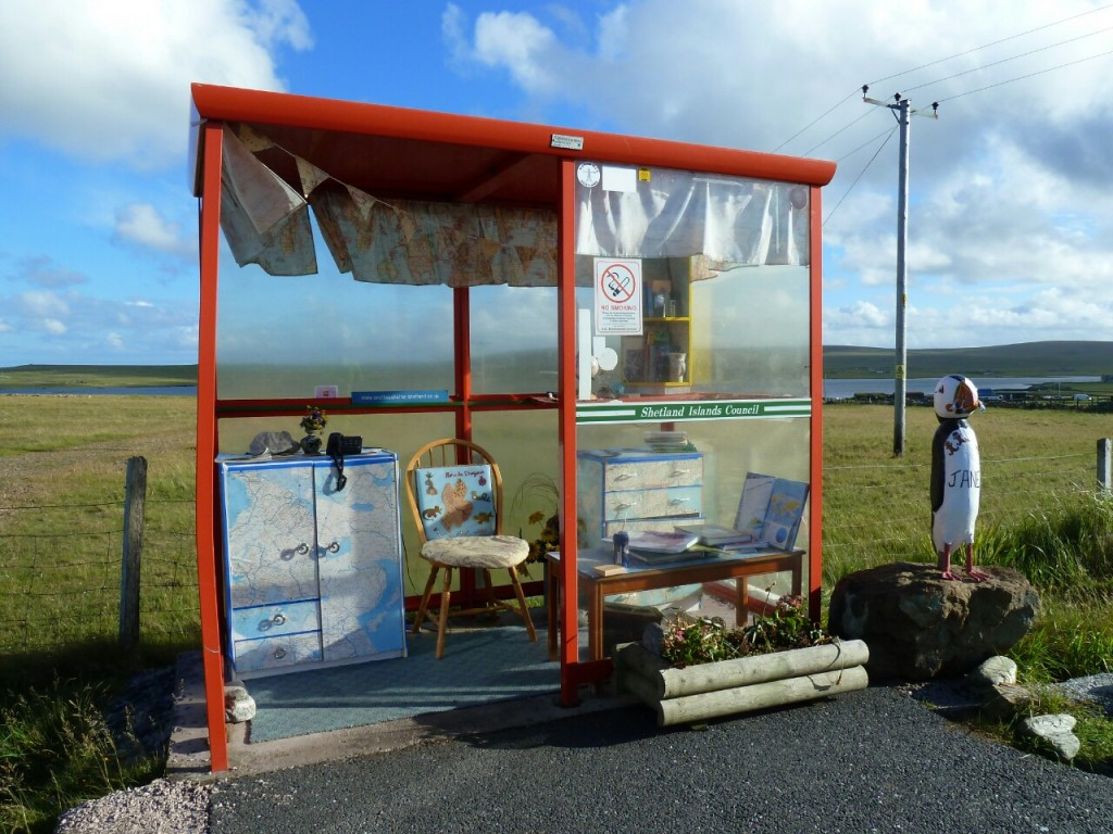 The Unst Bus shelter